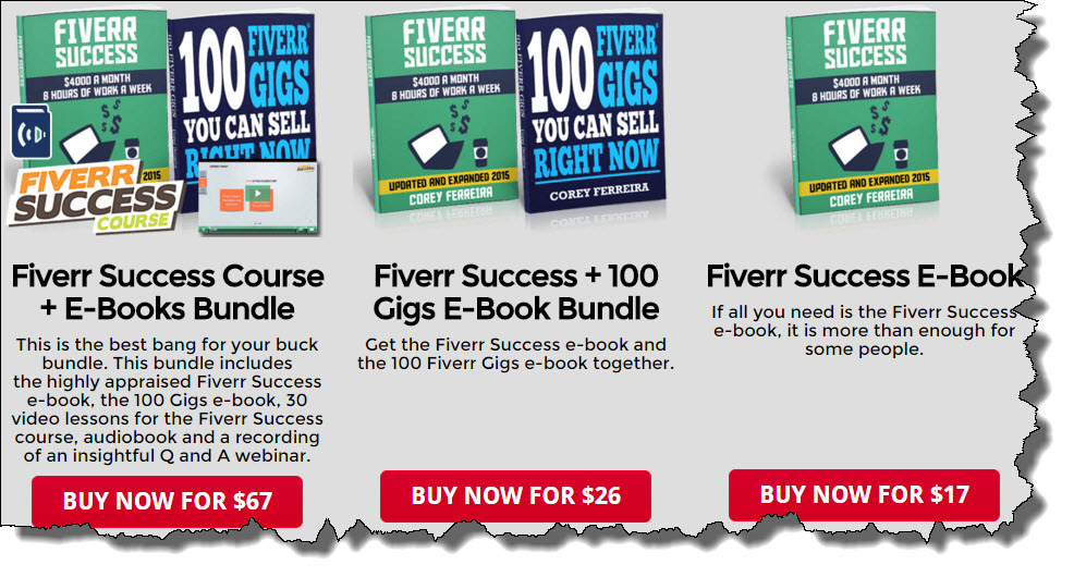 Fiverr Success eBook Price