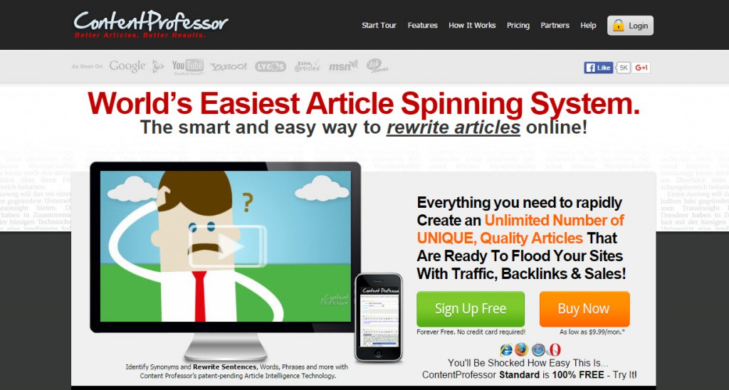 Content Professor Review – Does Article Spinner Work?
