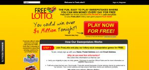 FreeLotto Review – A Sweepstake Scam?