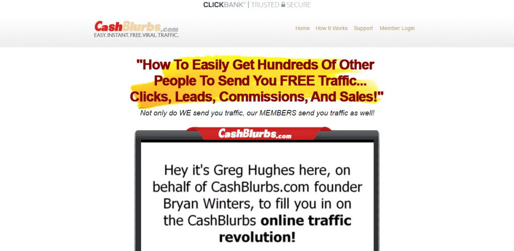 CashBlurbs Review – Does Bryan Winters' Free Traffic System a Scam?