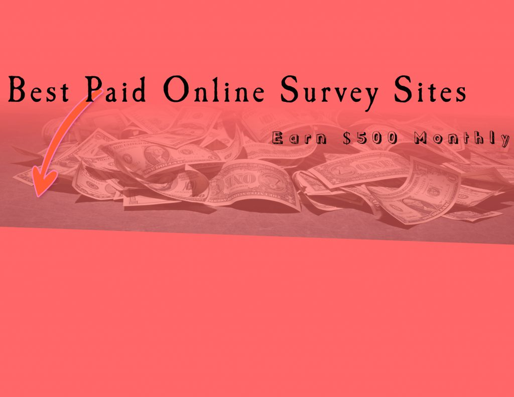 20 Best Paid Online Survey Sites To Earn $500 Monthly (2018)