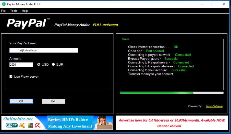 PayPal Money Adder (Generator) Review: Online Hacking Tools for